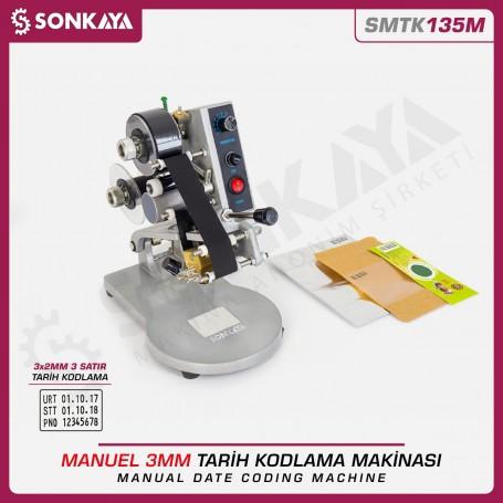 Sonkaya SMTK135M Manual Date Coding Machine 3 Lines