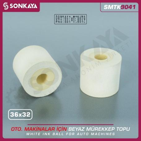 Sonkaya SMTK9041 Solid Ink Roller White 36x32mm for Date Coders
