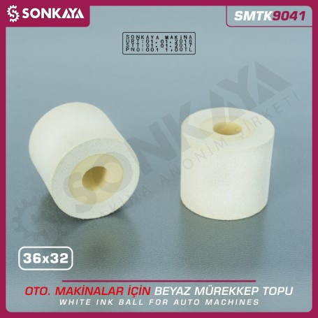 Sonkaya SMTK9041 Tarih Kodlama Makinası Mürekkep Topu Beyaz 36x32mm