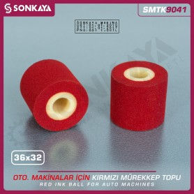 Sonkaya SMTK9041 Solid Ink Roller Red 36x32mm for Date Coders