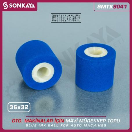 Sonkaya SMTK9041 Solid Ink Roller Blue 36x32mm for Date Coders
