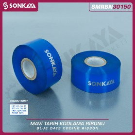 Sonkaya SMRBN30150 Blue Hot Stamping Foil Ribbon 30 mm 150 Meters