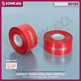 Sonkaya SMRBN30150 Red Hot Stamping Foil Ribbon 30 mm 150 Meters
