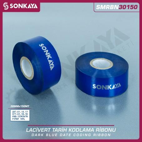 Sonkaya SMRBN30150 Dark Blue Hot Stamping Foil Ribbon 30 mm 150 Meters