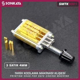 Sonkaya SMTK9001 Printing Head 3 Lines 4 mm