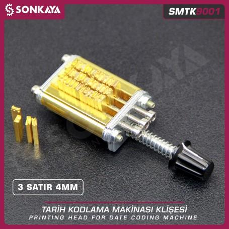 Sonkaya SMTK9001 Tarih Kodlama Klişesi 3 Satır 4 mm