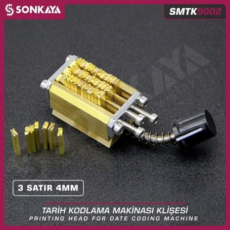 Sonkaya SMTK9002 Tarih Kodlama Klişesi 3 Satır 4 mm