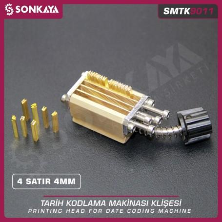 Sonkaya SMTK9011 Tarih Kodlama Klişesi 4 Satır 3 mm