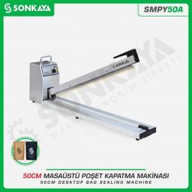 Sonkaya SMPY50A 50cm Poşet Ağzı Yapıştırma Makinası Aluminyum Gövde