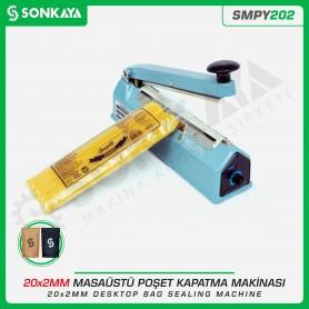 Sonkaya SMPY202 20cm Masaüstü Manuel Poşet Ağzı Kapatma Makinası Demir