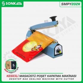 Sonkaya SMPY202K 20cm Masaüstü Manuel Poşet Kapatma Makinası Kesicili
