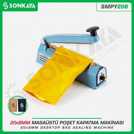 Sonkaya SMPY208 20cm Masaüstü Manuel Poşet Ağzı Kapatma Makinası Demir