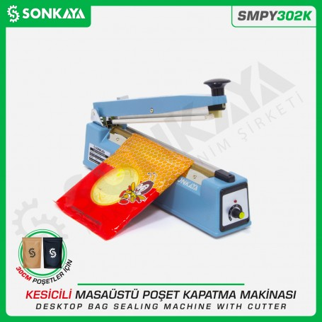 Sonkaya SMPY302K 30cm Impulse Bag Sealing Machine Iron Body Cutter