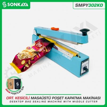 Sonkaya SMPY302KO 30cm Manuel Poşet Ağzı Kapatma Makinası Kesicili