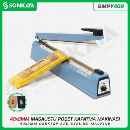 Sonkaya SMPY402 40cm Masaüstü Manuel Poşet Ağzı Kapatma Makinası Demir