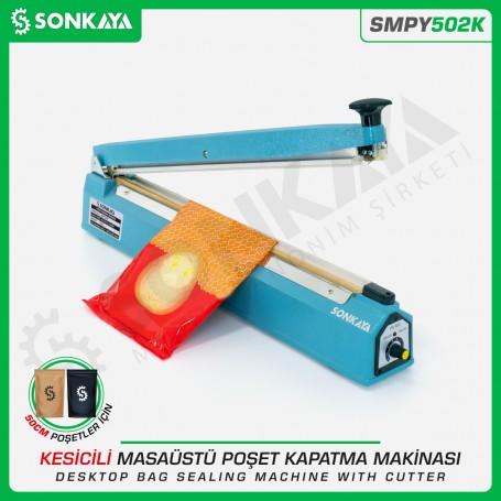 Sonkaya SMPY502K 50cm Masaüstü Manuel Poşet Kapatma Makinası Kesicili