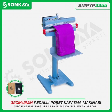Sonkaya SMPYP3355 Pedallı Poşet Ağzı Kapatma Makinası 35CM 5MM