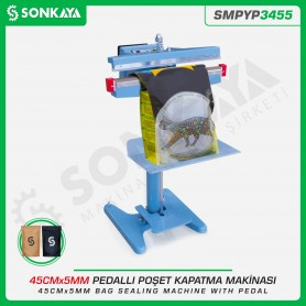Sonkaya SMPYP3455 Pedallı Poşet Ağzı Kapatma Makinası 45CM 5MM
