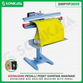 Sonkaya SMPYP3655 Pedallı Poşet Ağzı Kapatma Makinası 65CM 5MM
