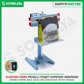 Sonkaya SMPYP34510C Pedallı Poşet Kapatma Makinası Çift Çene 45CM 10MM