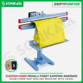 Sonkaya SMPYP38010C Pedal Bag Sealing Machine 80CM 10MM Double Bar