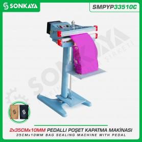 Sonkaya SMPYP33510C Pedallı Poşet Kapatma Makinası Çift Çene 35CM 10MM