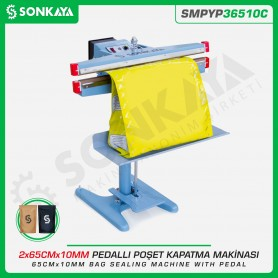 Sonkaya SMPYP36510C Pedallı Poşet Kapatma Makinası Çift Çene 65CM 10MM