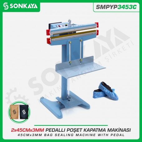 Sonkaya SMPYP3453C Bag Sealing Machine With Pedal 45CM 3MM Double Seal