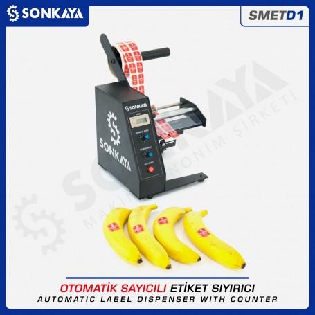 Sonkaya SMETD1 Otomatik Etiket Sıyırma Makinası Sayıcılı