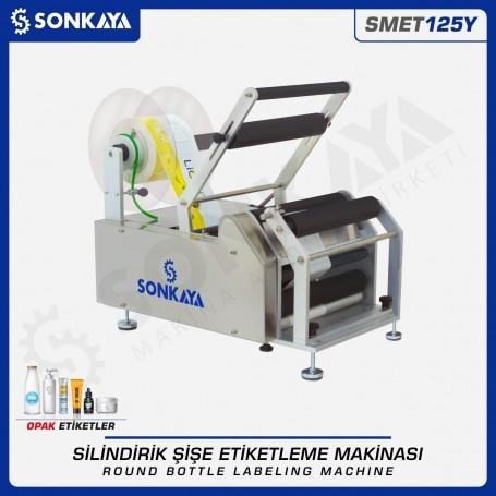Sonkaya SMET125Y Yarı Otomatik Yuvarlak Şişe Etiketleme Makinası 25cm
