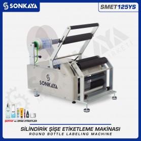 Sonkaya SMET125YS Yarı Otomatik Şeffaf Etiket Şişe Etiketleme Makinası