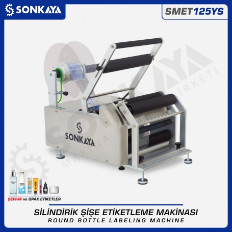 Sonkaya SMET125YS Semiauto Clear Label Round Bottle Labeling Machine