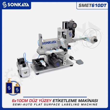 Sonkaya SMET610DT Semiauto Flat Surface Labeling Machine With Coding