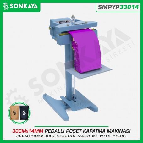 Sonkaya SMPYP33014 Pedallı Poşet Kapama Makinası Çift Çene 30CM 14MM