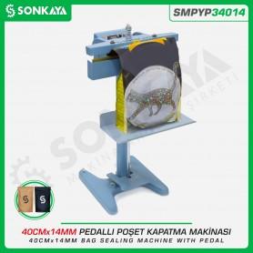 Sonkaya SMPYP34014 Pedallı Poşet Yapıştırma Makinası 2 Çene 40CM 14MM
